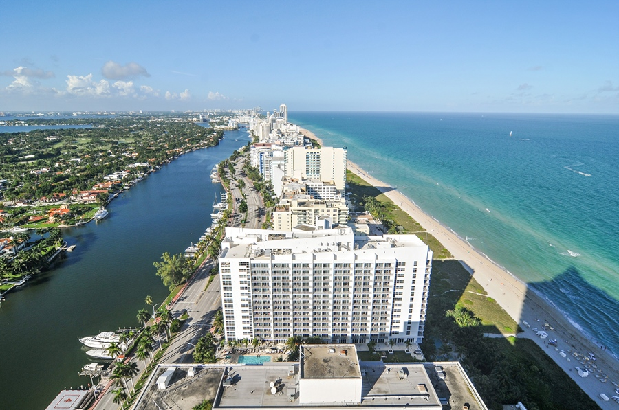 Real Estate Photography - 4779 Collins Ave, Unit 4207, Miami Beach, FL, 33140 - Canal View