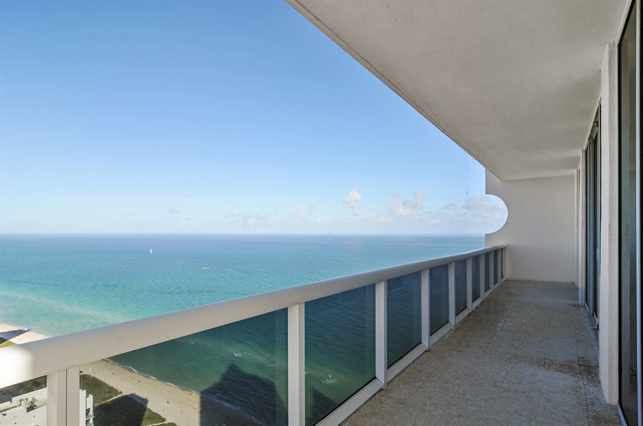 Real Estate Photography - 4779 Collins Ave, Unit 4207, Miami Beach, FL, 33140 - Balcony