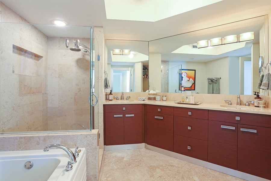 Real Estate Photography - 4779 Collins Ave, Unit 3602, Miami Beach, FL, 33140 - Master Bathroom