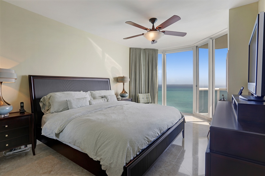 Real Estate Photography - 4779 Collins Ave, Unit 3602, Miami Beach, FL, 33140 - Master Bedroom