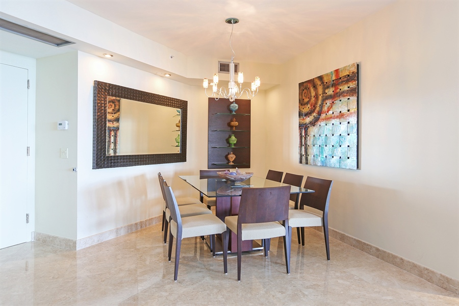 Real Estate Photography - 4779 Collins Ave, Unit 3602, Miami Beach, FL, 33140 - Dining Room