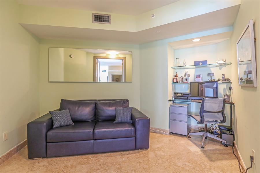 Real Estate Photography - 4779 Collins Ave, Unit 3602, Miami Beach, FL, 33140 - Den