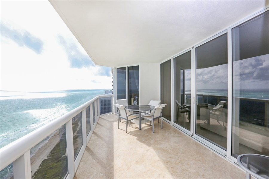 Real Estate Photography - 4779 Collins Ave, Unit 3602, Miami Beach, FL, 33140 - Balcony