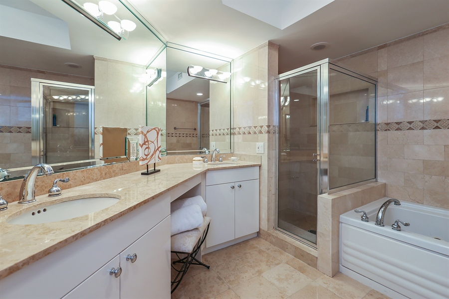 Real Estate Photography - 4775 Collins Ave, Unit 1802, Miami Beach, FL, 33140 - Master Bathroom