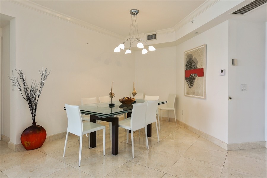 Real Estate Photography - 4775 Collins Ave, Unit 1802, Miami Beach, FL, 33140 - Dining Room