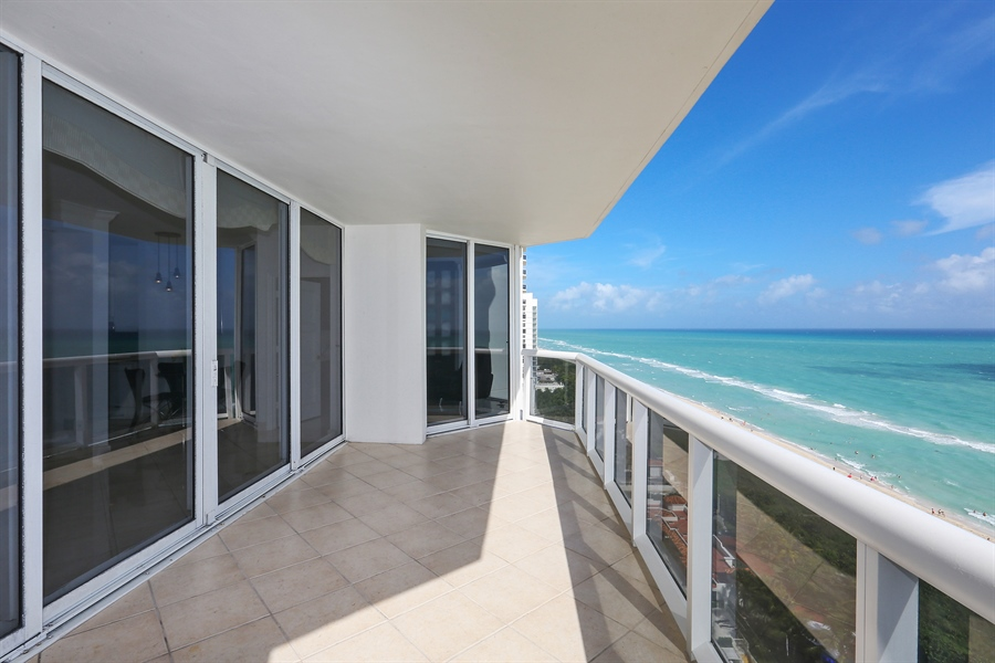 Real Estate Photography - 4775 Collins Ave, Unit 1802, Miami Beach, FL, 33140 - Balcony