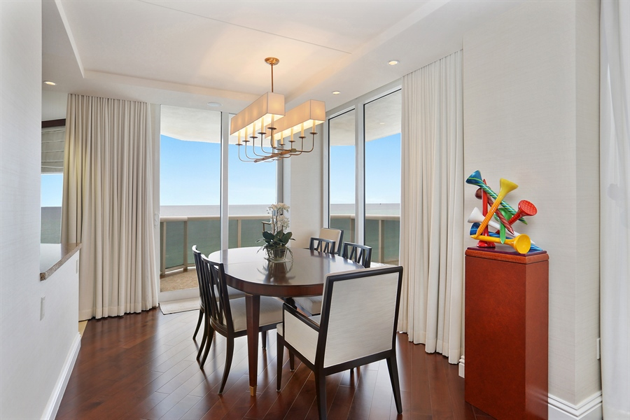 Real Estate Photography - 4779 Collins Ave, 903, Miami Beach, FL, 33140 - Dining Room