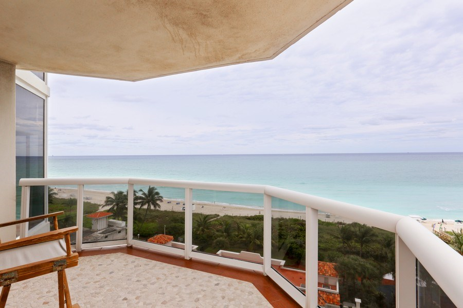 Real Estate Photography - 4779 Collins Ave, 903, Miami Beach, FL, 33140 - Balcony