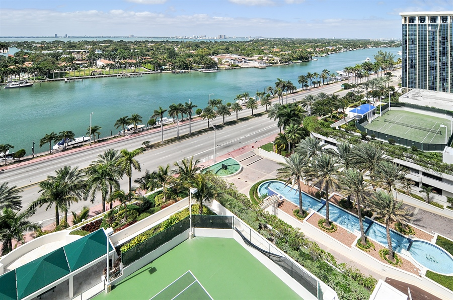 Real Estate Photography - 4775 Collins Ave, Unit 1506, Miami Beach, FL, 33140 - Canal View