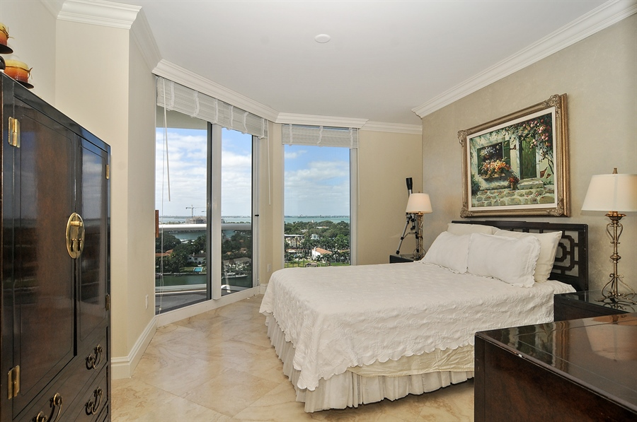 Real Estate Photography - 4775 Collins Ave, Unit 1506, Miami Beach, FL, 33140 - Master Bedroom