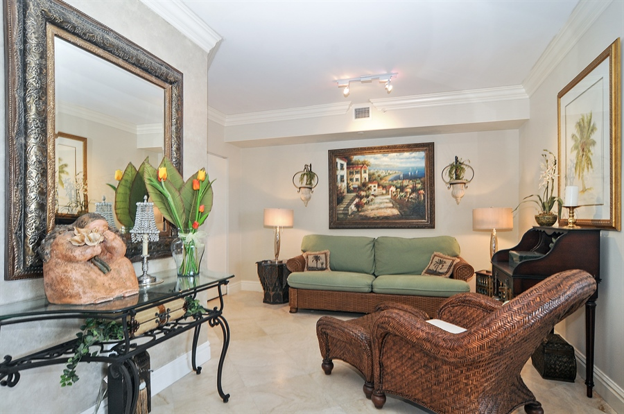 Real Estate Photography - 4775 Collins Ave, Unit 1506, Miami Beach, FL, 33140 - Family Room