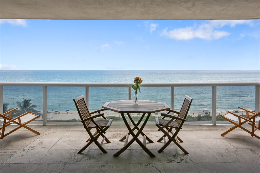 Real Estate Photography - 4779 Collins Ave, 902, Miami Beach, FL, 33140 - Terrace
