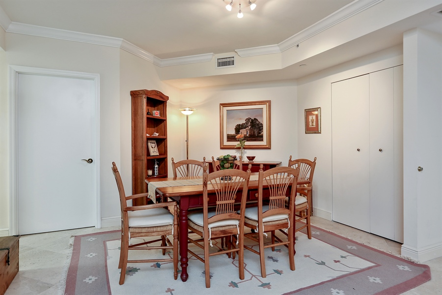 Real Estate Photography - 4779 Collins Ave, 902, Miami Beach, FL, 33140 - Dining Room