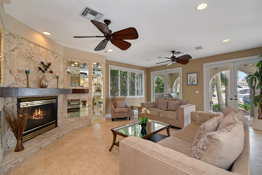 Real Estate Photography - 11 Pelican Dr, Fort Lauderdale, FL, 33301 - Family Room