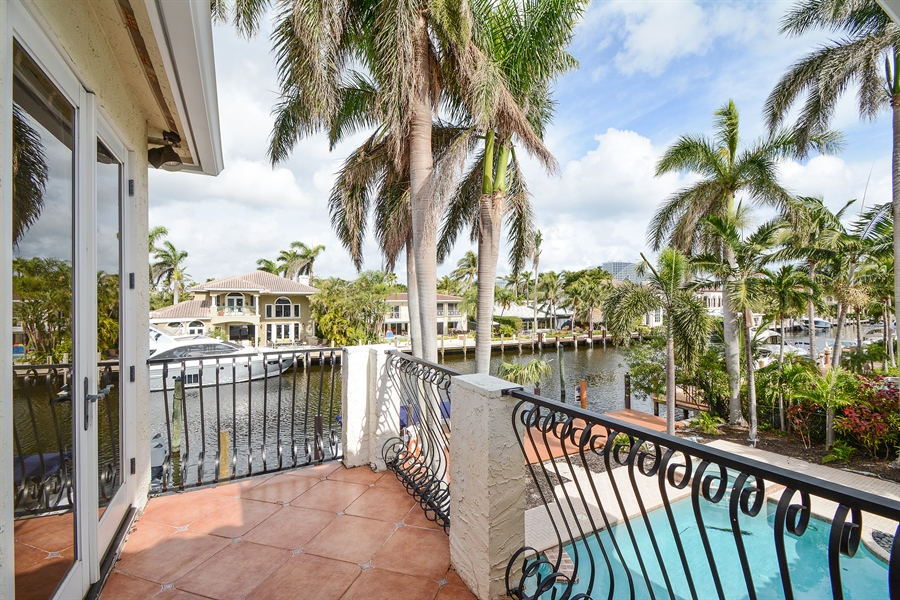 Real Estate Photography - 11 Pelican Dr, Fort Lauderdale, FL, 33301 - Balcony