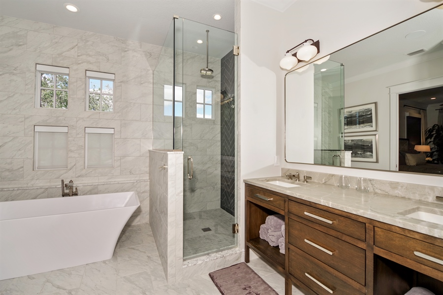 Real Estate Photography - 240 N Lake Sybelia Drive, Maitland, FL, 32751 - Master Bathroom