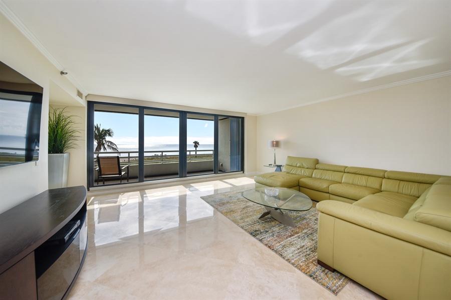 Real Estate Photography - 1500 S Ocean Blvd, Unit S104, Boca Raton, FL, 33432 - Living Room