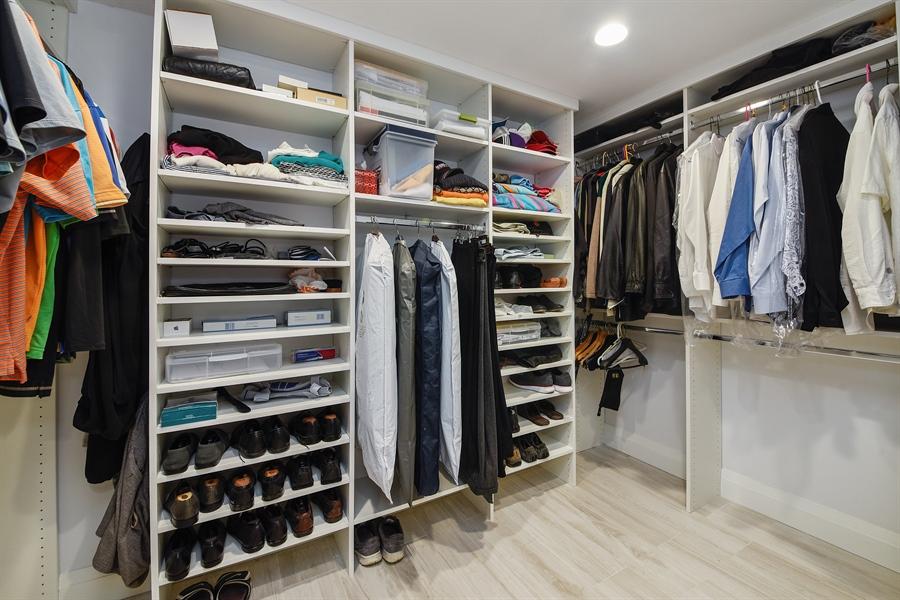 Real Estate Photography - 1500 S Ocean Blvd, Unit S104, Boca Raton, FL, 33432 - Master Bedroom Closet