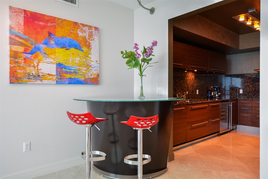 Real Estate Photography - 101 S Fort Lauderdale Beach Blvd, Unit 2002, Fort Lauderdale, FL, 33316 - Breakfast Nook