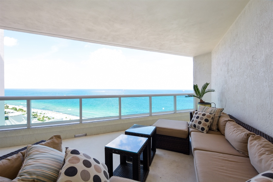 Real Estate Photography - 101 S Fort Lauderdale Beach Blvd, Unit 2002, Fort Lauderdale, FL, 33316 - Balcony