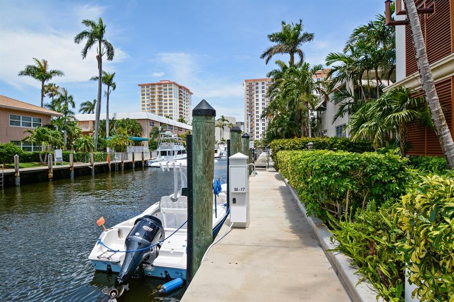Real Estate Photography - 2845 NE 9th St, unit 1104, Fort Lauderdale, FL, 33304 - Boat Slip #17 Included (65')