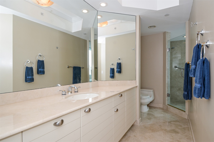Real Estate Photography - 2845 NE 9th St, unit 1104, Fort Lauderdale, FL, 33304 - Master Bathroom