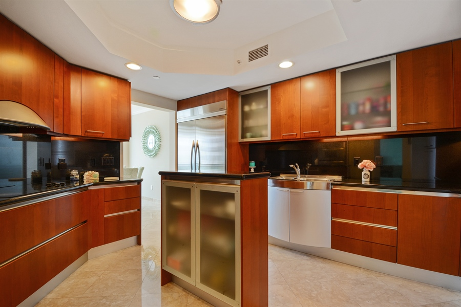 Real Estate Photography - 2845 NE 9th St, unit 1104, Fort Lauderdale, FL, 33304 - Kitchen