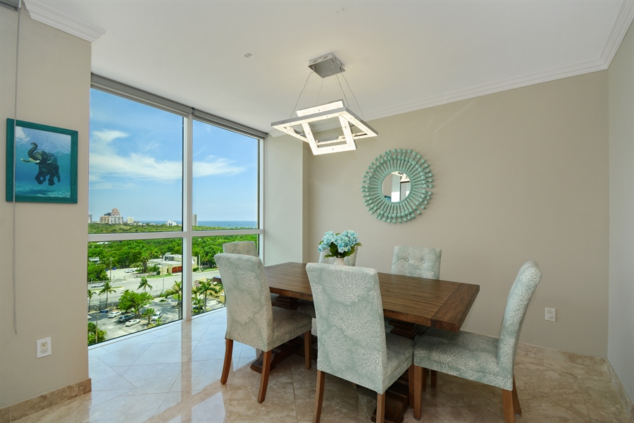 Real Estate Photography - 2845 NE 9th St, unit 1104, Fort Lauderdale, FL, 33304 - Dining Room