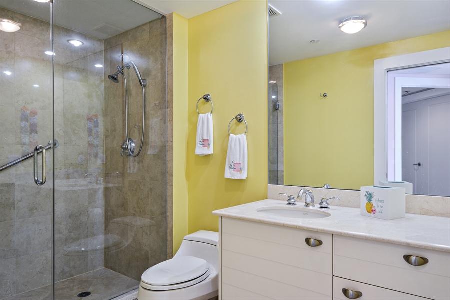 Real Estate Photography - 2845 NE 9th St, unit 1104, Fort Lauderdale, FL, 33304 - Ensuite bath for 3rd bedroom
