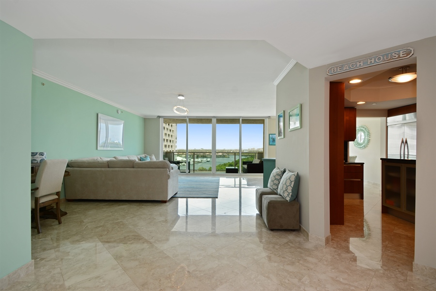 Real Estate Photography - 2845 NE 9th St, unit 1104, Fort Lauderdale, FL, 33304 - Kitchen / Living Room