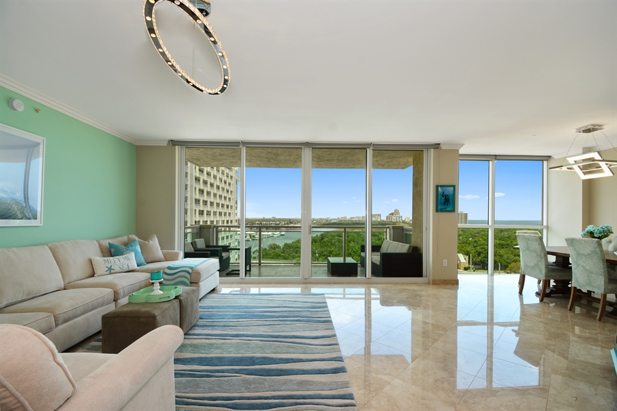 Real Estate Photography - 2845 NE 9th St, unit 1104, Fort Lauderdale, FL, 33304 - Living Room / Dining Room
