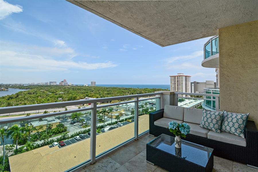 Real Estate Photography - 2845 NE 9th St, unit 1104, Fort Lauderdale, FL, 33304 - Balcony