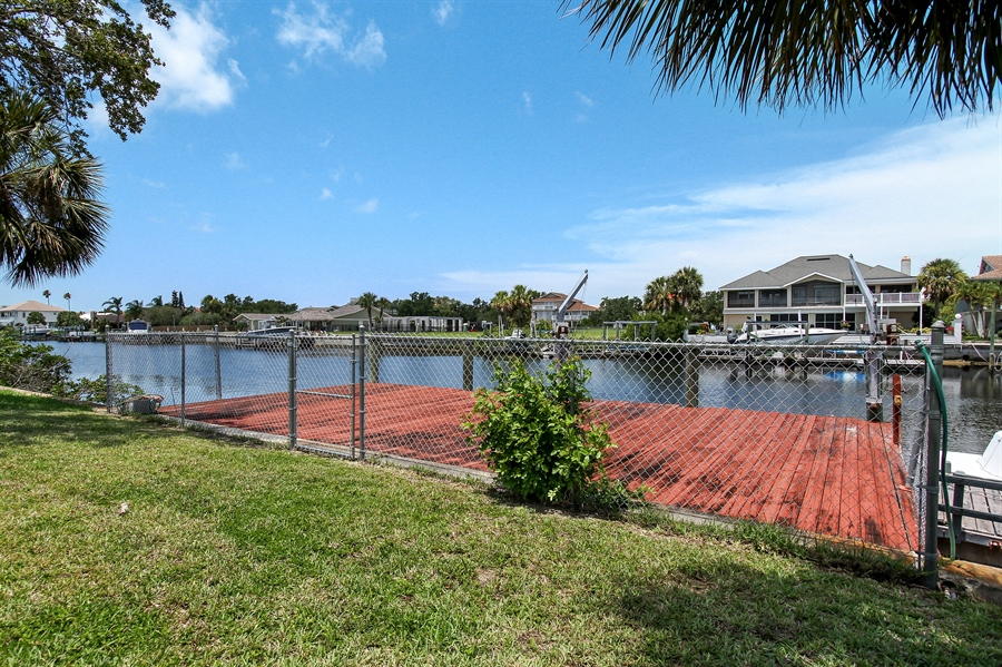 Real Estate Photography - 5717 Westshore Dr, New Port Richey, FL, 34652 - Dock