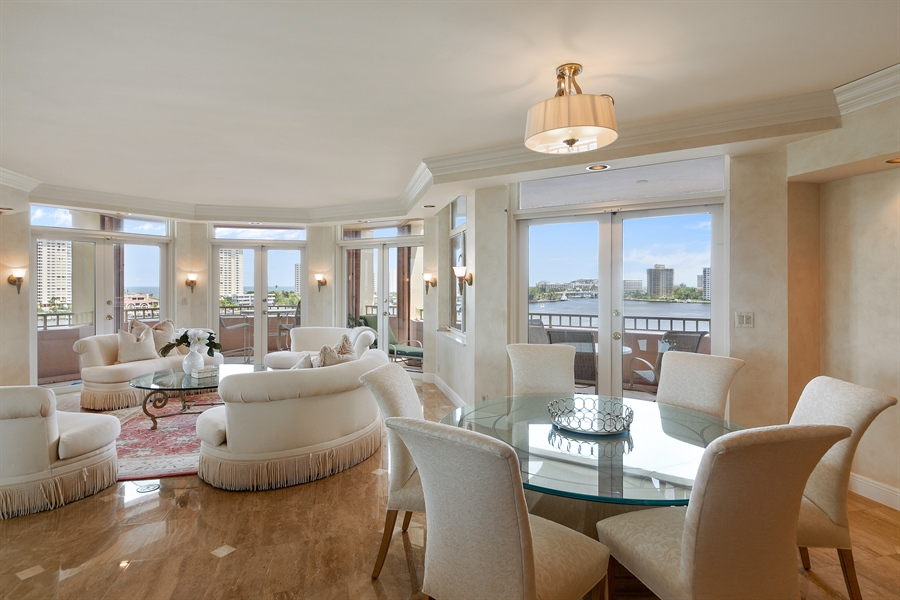 Real Estate Photography - 300 SE 5th Avenue, 7010, Boca Raton, FL, 33432 - Living Room / Dining Room