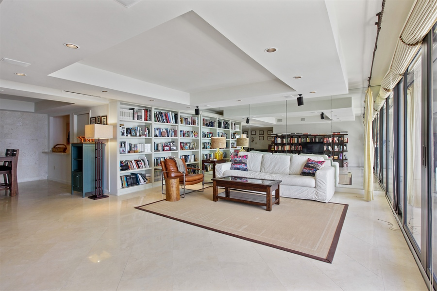Real Estate Photography - 1 Grove Isle Dr, A1207, Coconut Grove, FL, 33133 - Living Room