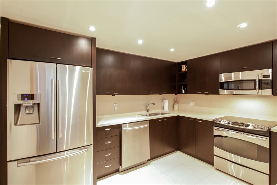 Real Estate Photography - 1 Grove Isle Dr, A1207, Coconut Grove, FL, 33133 - Kitchen