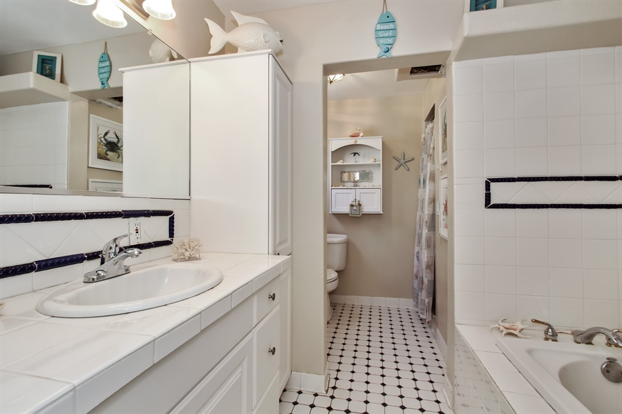 Real Estate Photography - 1811 Gulf Blvd, Indian Rocks Beach, FL, 33785 - Master Bathroom