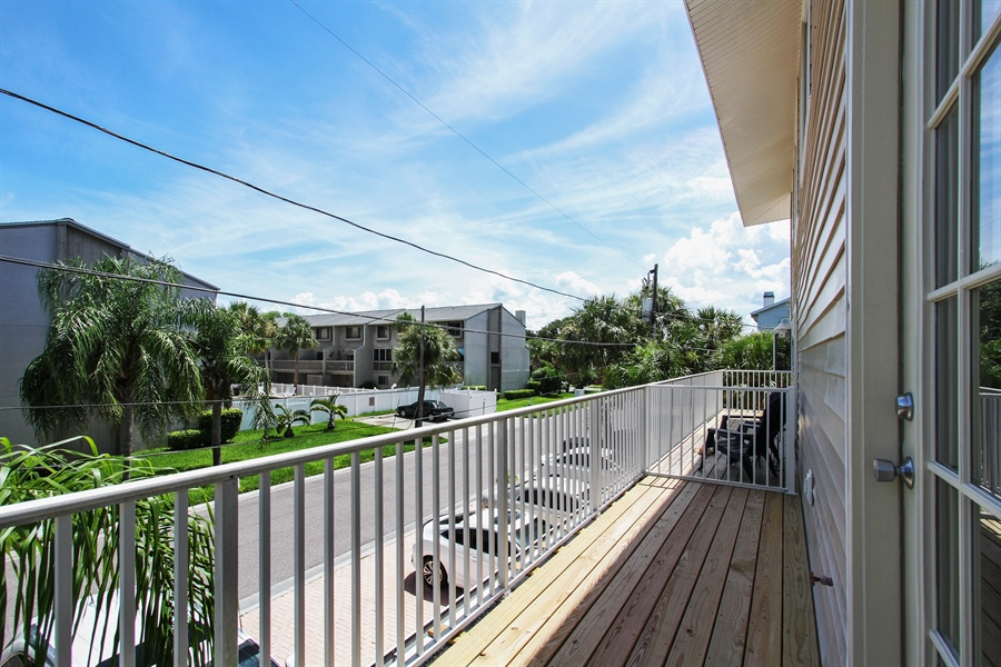 Real Estate Photography - 1811 Gulf Blvd, Indian Rocks Beach, FL, 33785 - Balcony