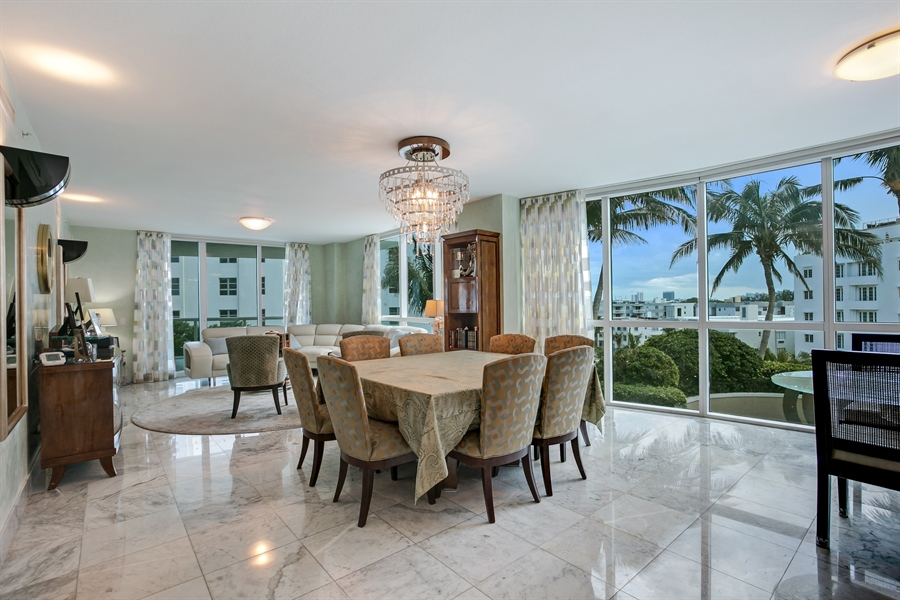 Real Estate Photography - 3801 Collins Ave, Unit 501, Miami Beach, FL, 33140 - Living Room