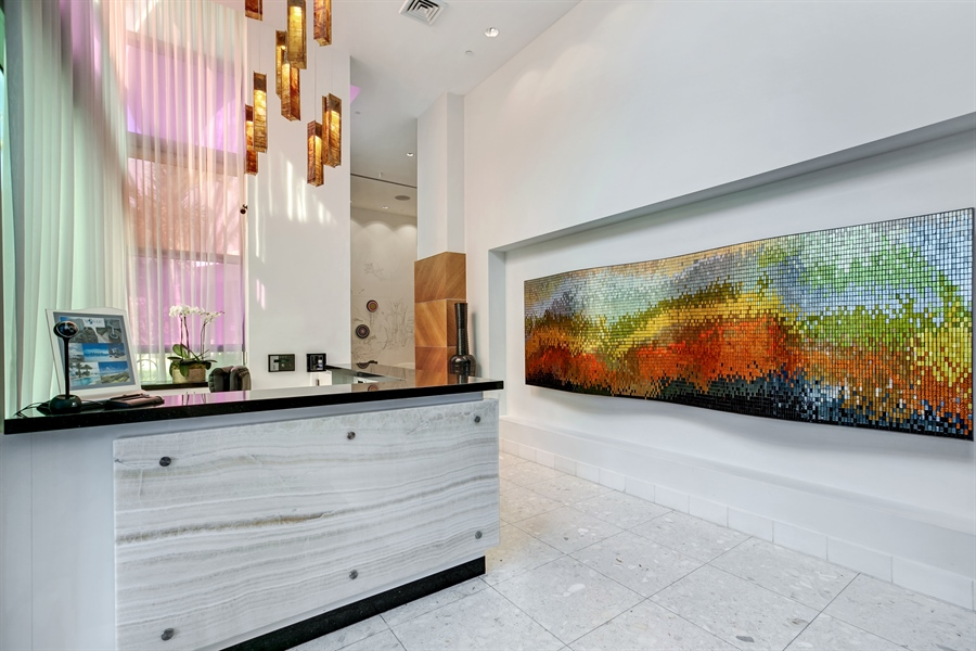 Real Estate Photography - 3801 Collins Ave, Unit 501, Miami Beach, FL, 33140 - Lobby