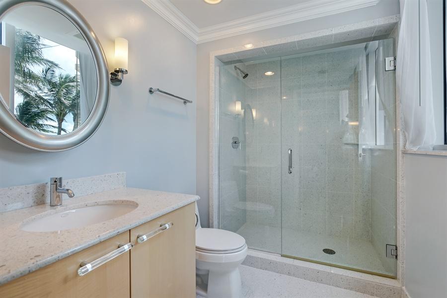 Real Estate Photography - 3801 Collins Ave, Unit 501, Miami Beach, FL, 33140 - Master Bathroom