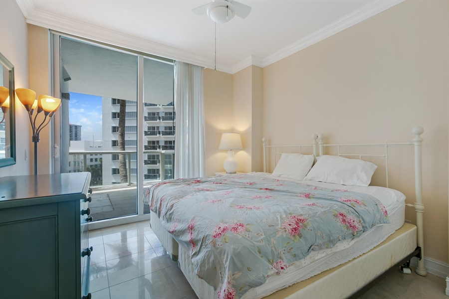 Real Estate Photography - 3801 Collins Ave, Unit 501, Miami Beach, FL, 33140 - Master Bedroom