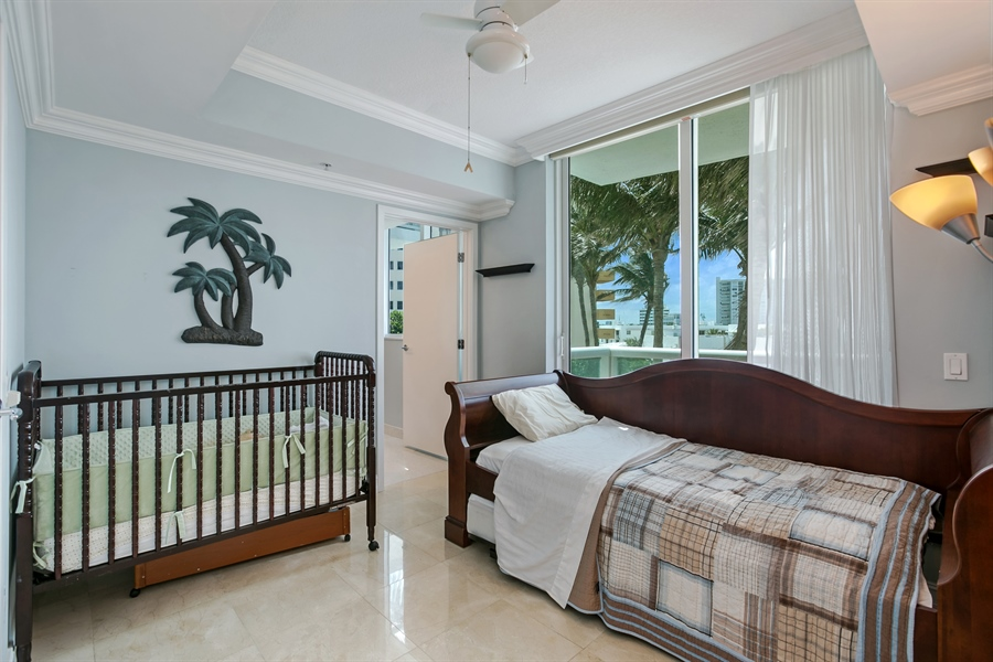 Real Estate Photography - 3801 Collins Ave, Unit 501, Miami Beach, FL, 33140 - 2nd Bedroom