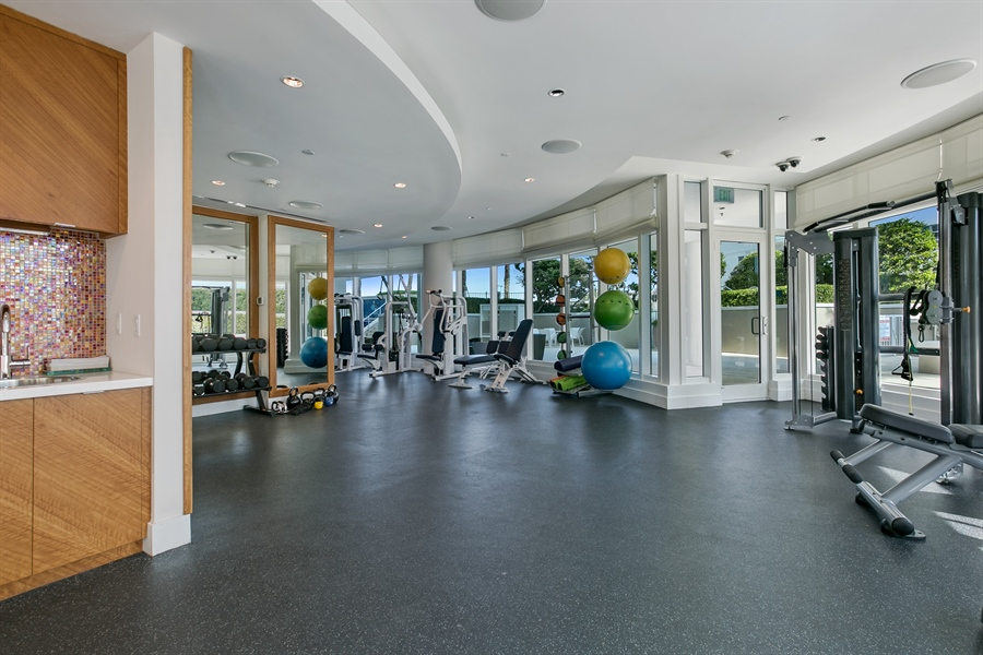 Real Estate Photography - 3801 Collins Ave, Unit 501, Miami Beach, FL, 33140 - Gym