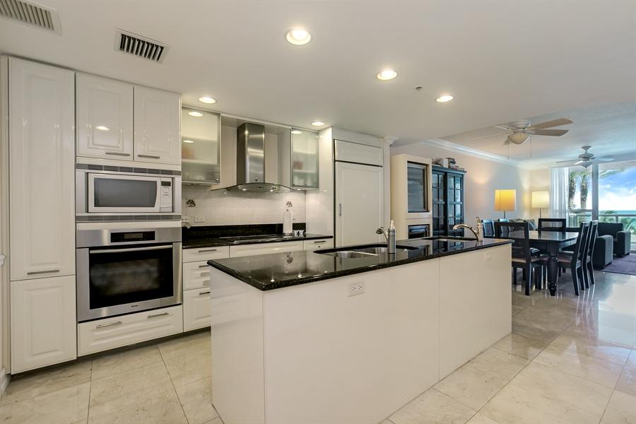 Real Estate Photography - 3801 Collins Ave, Unit 501, Miami Beach, FL, 33140 - Kitchen