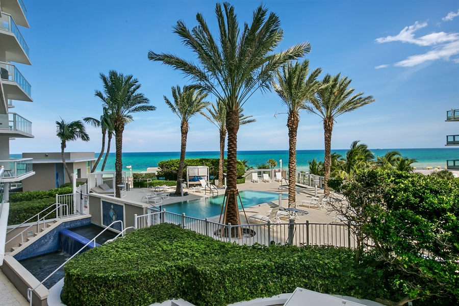 Real Estate Photography - 3801 Collins Ave, Unit 501, Miami Beach, FL, 33140 - Back Yard
