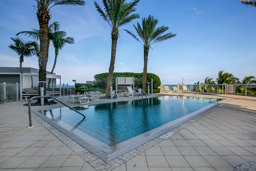 Real Estate Photography - 3801 Collins Ave, Unit 501, Miami Beach, FL, 33140 - Pool