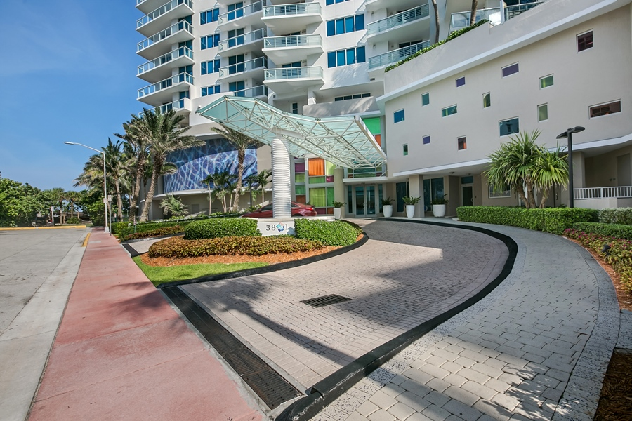 Real Estate Photography - 3801 Collins Ave, Unit 501, Miami Beach, FL, 33140 - Front View