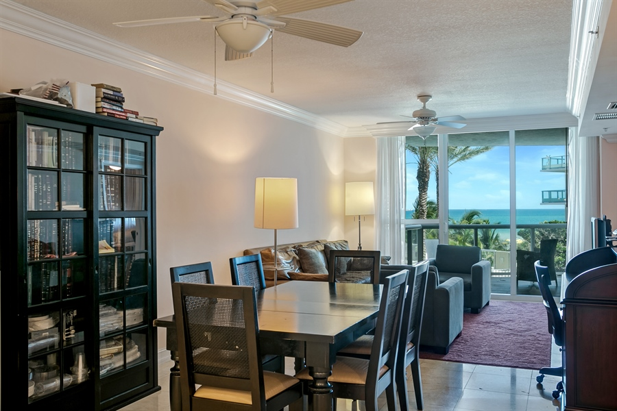 Real Estate Photography - 3801 Collins Ave, Unit 501, Miami Beach, FL, 33140 - Living Room / Dining Room