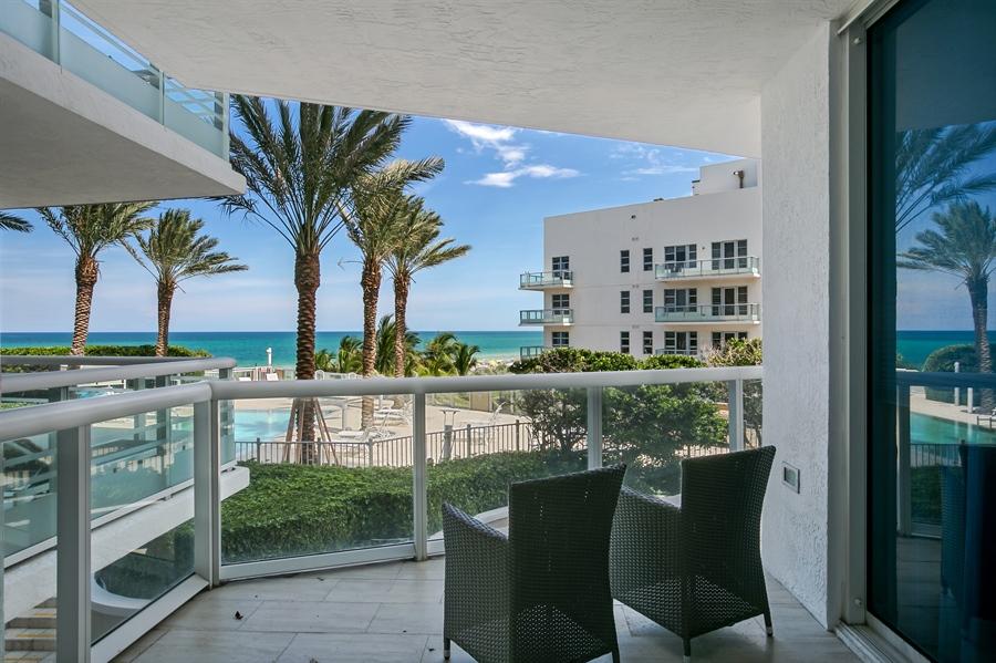 Real Estate Photography - 3801 Collins Ave, Unit 501, Miami Beach, FL, 33140 - Balcony